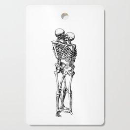 Kissing Skeleton Cutting Board