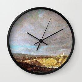 Isar Landscape Near Oberfohring - Carl Spitzweg Wall Clock
