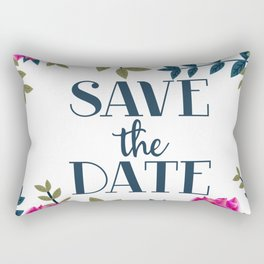 Save The Date vintage Roses Rectangular Pillow