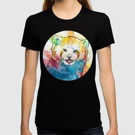 Red Panda - animal painting, illustration, colorful T-shirt