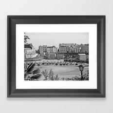 Tenby Harbour. Black+White. Reflection. Framed Art Print