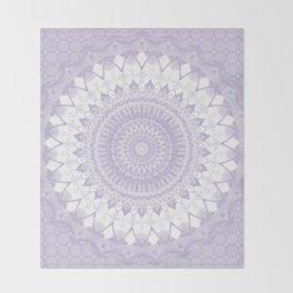 Boho Pastel Purple Mandala Throw Blanket