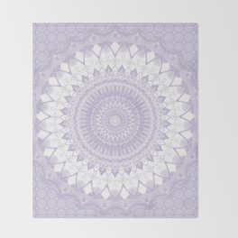 Boho Pastel Purple Mandala Throw Blanket