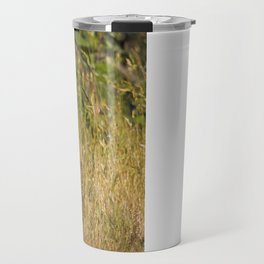 Cute and Curious Eastern Cottontail Rabbit in the Long Grass Travel Mug
