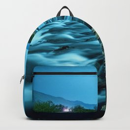 tranquil waterfall Backpack