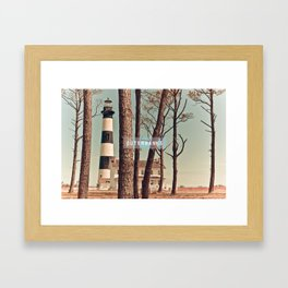 Outer Banks - Bodie Island Lighthouse.  Framed Art Print