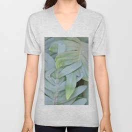 TEXTURES -- Ferns Enfolded Unisex V-Neck