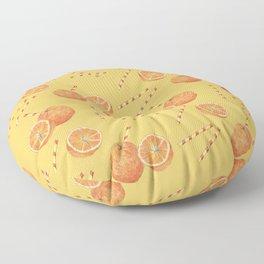 orange juice _ light Floor Pillow