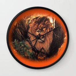 Season Of the Big Cat - Lion Through the Lens Wall Clock