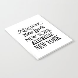 I Heart New York City Black and White New York Poster I Love NYC Design black-white home wall decor Notebook