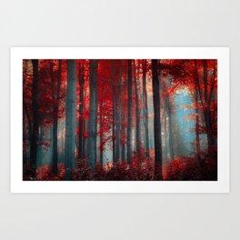Magical trees Art Print