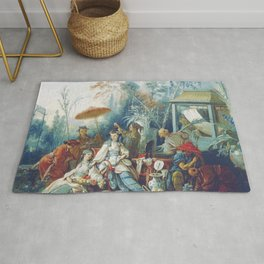 Le Jardin Chinois by François Boucher Rug