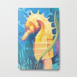 Seahorse Mural Corralejo Spain Metal Print