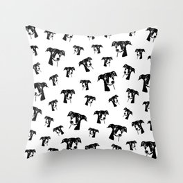 GIFTS AT CHRISTMAS FOR GREYHOUND DOG LOVERS ,GIFTS FROM MONOFACES FOR YOU IN 2020 Throw Pillow