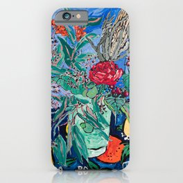 Australian Wildflower Bouquet with Citrus Print Still Life Painting iPhone Case