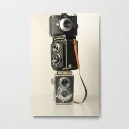 Vintage cameras Metal Print