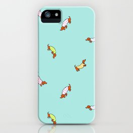 Wiener Dog Pattern iPhone Case