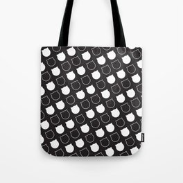 Polka Cat - Reverse Tote Bag