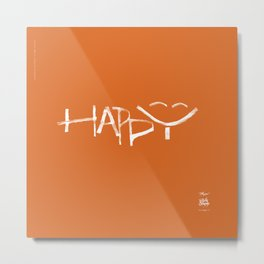 Happy Metal Print
