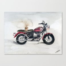 Mocha and Motorcycle Canvas Print