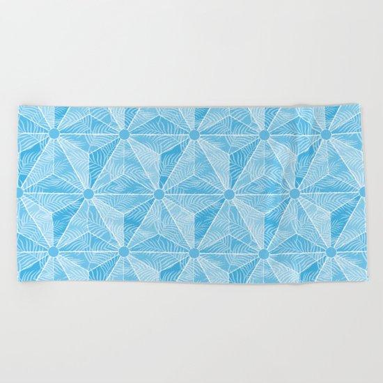 Geodesic Palm_Blue Sky Beach Towel