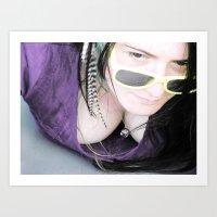 Who Likes My Sunglasses? Art Print