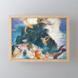 Play Of The Nereides - Arnold Bocklin Framed Mini Art Print