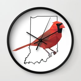 Indiana – Northern Cardinal Wall Clock