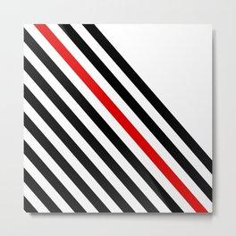 80s stripes Metal Print