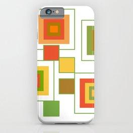 Retro Minimalist Square Design iPhone Case