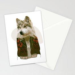 wolf jacket Stationery Cards