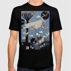When I read... MEDIUM Black Mens Fitted Tee