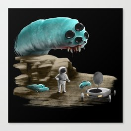 Space worm Canvas Print