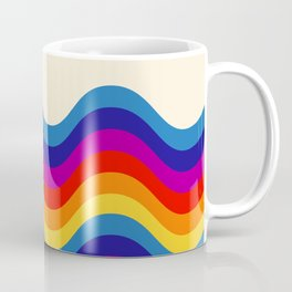 Wavy retro rainbow Coffee Mug