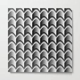 Abstract Black&White Pattern Metal Print