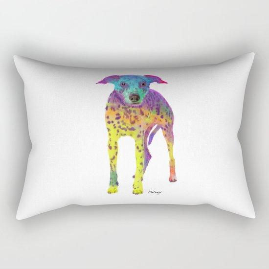 Colorful Dalmatian Rectangular Pillow