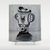 picasso Shower Curtains featuring Modern Picasso  by JayKay
