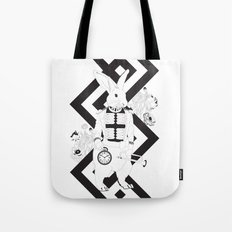 Alice in Wonderland Series - I'm late, I'm late... for a very important date! Tote Bag