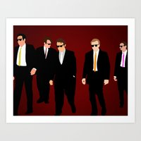 reservoir dogs Art Prints featuring Reservoir Dogs by Tom Storrer