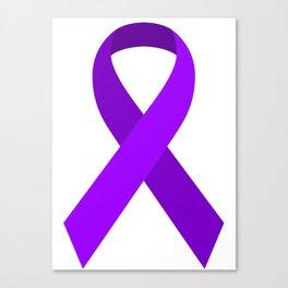 Purple Awareness Support Ribbon Canvas Print
