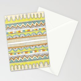 pattern with pale colors Stationery Cards