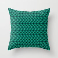 knitting Throw Pillows featuring Knitting by Diogo Coito