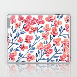 Cherry Blossoms – Melon & Navy Palette Laptop & iPad Skin