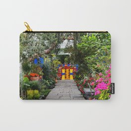 Casa Azul Mexican Landscape color photograph from the Blue House of Coyoacán  Carry-All Pouch