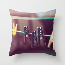 Pegs Throw Pillow