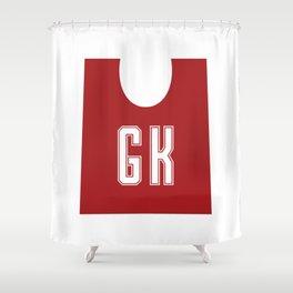 Netball GK Shower Curtain
