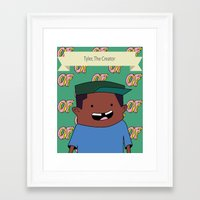 tyler the creator Framed Art Prints featuring Tyler, The Creator by Stodium