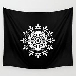 Snowflake Medallion B&W Wall Tapestry