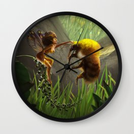 Faerie and Bee Wall Clock