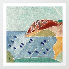 Laga Beach Art Print